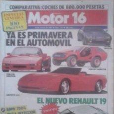 Coches: REVISTA N°177 MOTOR 16 ESPECIAL PRIMAVERA 1987. Lote 142840869