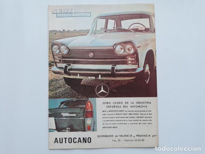 Coches: REVISTA GRAFICA, REAL AUTOMOVIL CLUB, VALENCIA 1970, PUBLICIDAD SEAT 1800 DIESEL - Foto 5 - 142867778