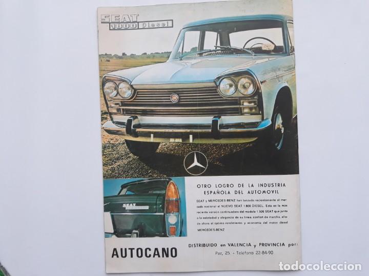 Coches: REVISTA GRAFICA, REAL AUTOMOVIL CLUB, VALENCIA , PUBLICIDAD SEAT 1800 DIESEL - Foto 3 - 142868090