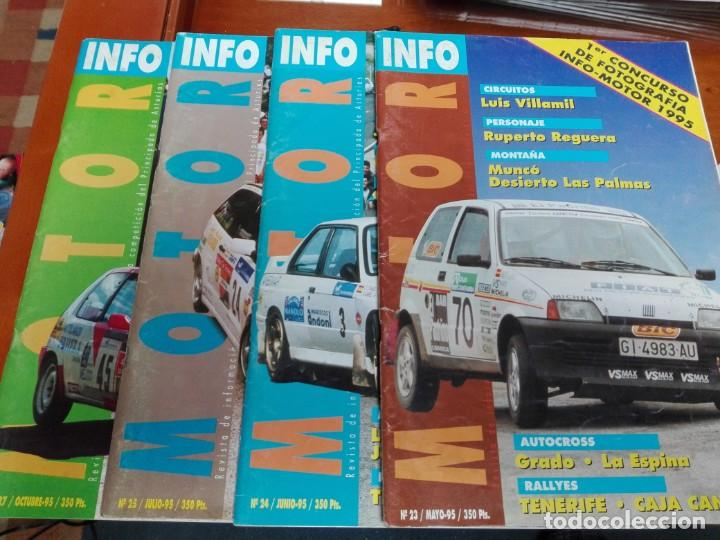 INFO MOTOR 4 REVISTAS (Coches y Motocicletas Antiguas y Clásicas - Revistas de Coches)