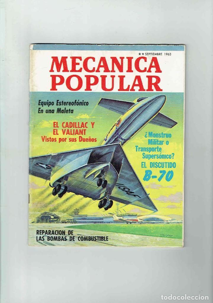 REVISTA MECÁNICA POPULAR SEPTIEMBRE 1963 (Coches y Motocicletas Antiguas y Clásicas - Revistas de Coches)