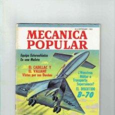 Coches: REVISTA MECÁNICA POPULAR SEPTIEMBRE 1963. Lote 142888946