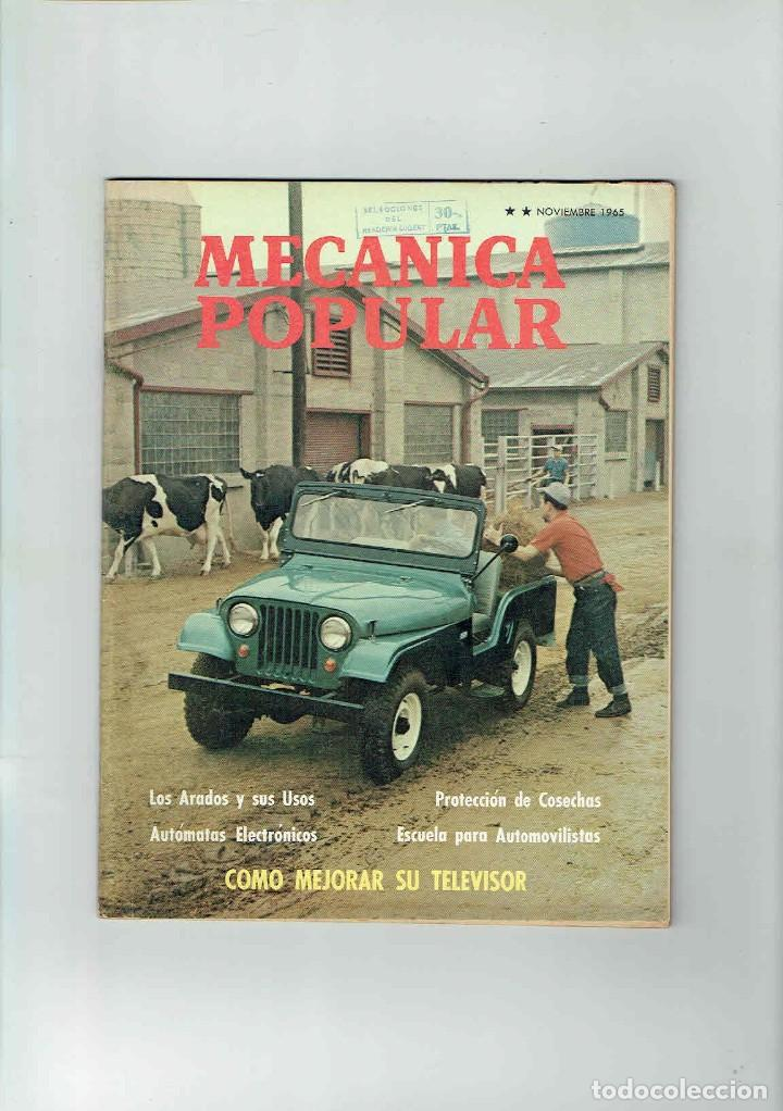 REVISTA MECÁNICA POPULAR NOVIEMBRE DE 1965 (Coches y Motocicletas Antiguas y Clásicas - Revistas de Coches)