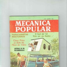 Coches: REVISTA MECÁNICA POPULAR AGOSTO 1964. Lote 142891182