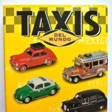 Coches: TAXIS DEL MUNDO , CARPETA Y FICHAS DE AUTOMOVILES DE COLECCIÓN. Lote 143086838