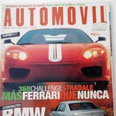 Coches: REVISTA AUTOMOVIL Nº 306 - FOTO SUMARIO-BMW 760I - JAGUAR SUPER V8 - LEXUS RX300 - VOLVO XC90 2.5T. Lote 143105270