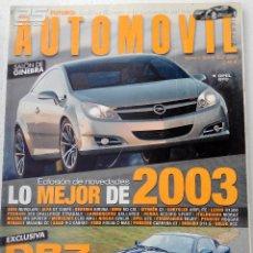 Coches: REVISTA AUTOMOVIL FORMULA Nº 303 - FOTO SUMARIO- DB7 GT - LANCIA THESIS V6 3.0 - VEL SATIS V6 3.5. Lote 143105638