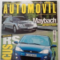 Coches: REVISTA AUTOMOVIL FORMULA Nº 299 - FOTO SUMARIO- FOCUS RS - ST 170 - LEON 1.8 20 VT - MONDEO ST220. Lote 143105998