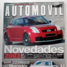 Coches: REVISTA AUTOMOVIL FORMULA Nº 298 - FOTO SUMARIO-MERCEDES SL 55. Lote 143106162