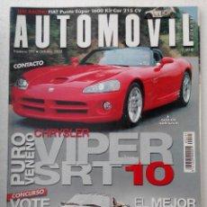 Coches: REVISTA AUTOMOVIL FORMULA Nº 297 - FOTO SUMARIO- MG TF160 - MAZDA MX5 1.8 - TOYOTA MR2 -. Lote 143106326
