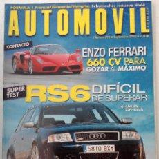 Coches: REVISTA AUTOMOVIL FORMULA Nº 296 - FOTO SUMARIO- AUDI RS6 - BMW M5 - JAGUAR S-TYPE R. Lote 143106482