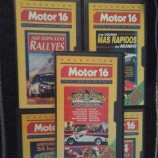 Coches: COLECCIÓN MOTOR 16 , 5 CINTA VHS. Lote 143147998