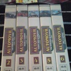 Coches: LA GRAN AVENTURA DEL AUTOMÓVIL, 5 CINTAS VHS. Lote 143149266