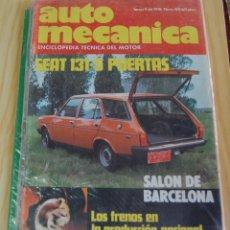 Coches: REVISTA AUTOMECANICA Nº 80 AÑO 1976. SEAT 131 5 PUERTAS CON MOTOR 1430 Y 1600. Lote 143438846