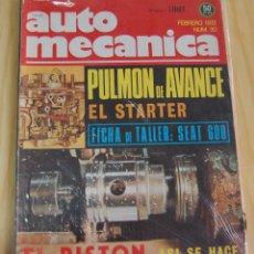 Coches: REVISTA AUTOMÓVIL AUTO MECÁNICA AUTOMECÁNICA Nº 30 - FEBRERO 1972. Lote 143935066