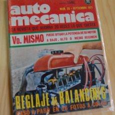 Coches: REVISTA AUTOMÓVIL AUTO MECÁNICA AUTOMECÁNICA Nº 25 - SEPTIEMBRE 1971. Lote 143935210
