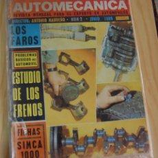 Coches: REVISTA AUTOMÓVIL AUTO MECÁNICA AUTOMECÁNICA Nº 2 - JUNIO 1969 SIMCA 1000. Lote 143935418