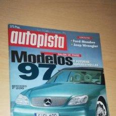 Coches: REVISTA AUTOPISTA Nº 1943 (1996) AUDI A3 1.8, LANCIA DELTA 1.8 HPE, MAZDA 323 1.8, VW GOLF GTI. Lote 144820334