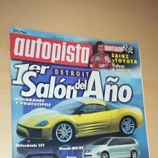 Coches: REVISTA AUTOPISTA Nº 2009 (1998) COMPARATIVA SKODA OCTAVIA / MITSUBISHI MONTERO TDI / SALON DETROIT. Lote 144820530