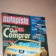 Coches: REVISTA AUTOPISTA Nº 2028 (1998) RENAULT LAGUNA 1.9 DTI / PORSCHE 911 CABRIO. Lote 144820682