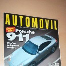 Coches: REVISTA AUTOMOVIL Nº 240 ENERO 1998 PORSCHE 911 50 AÑOS, BERLINAS V6, TOYOTA COROLLA 1.6. Lote 144821162