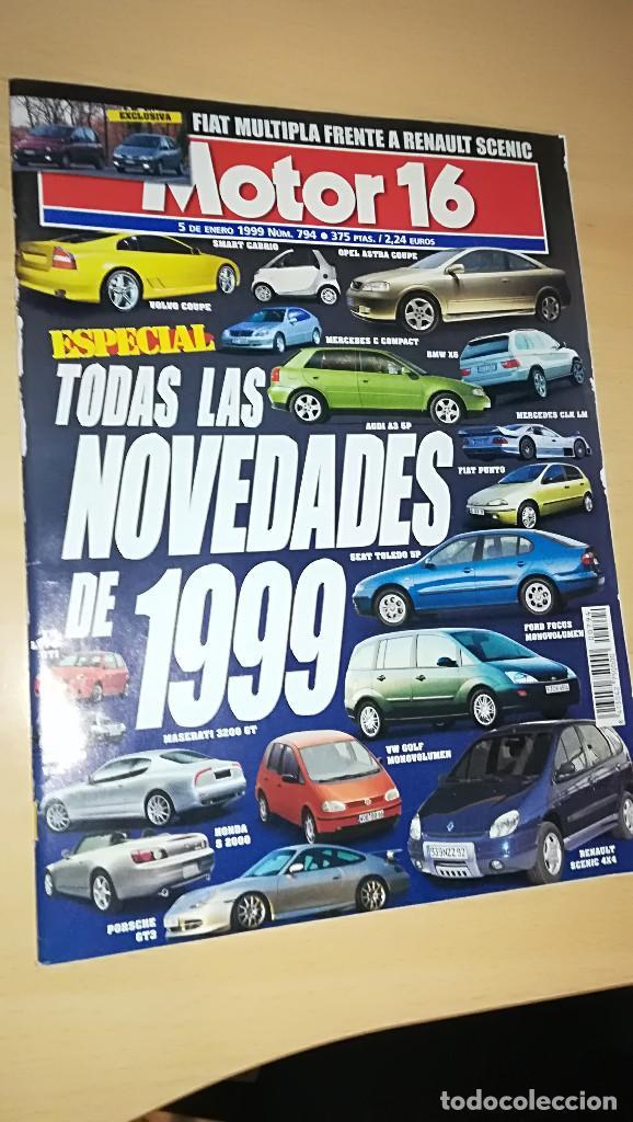 REVISTA MOTOR 16 Nº 794 ENERO 1999 (Coches y Motocicletas Antiguas y Clásicas - Revistas de Coches)