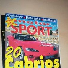 Coches: REVISTA MOTOR SPORT Nº 43 CON 2 SUPLEMENTOS DE LOS 3 ORIGINALES.. Lote 144855162