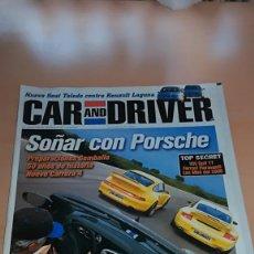 Coches: REVISTA CAR AND DRIVER Nº 39 DICIEMBRE 1998 PORSCHE FERRARI FIORAVANTI. Lote 144928990