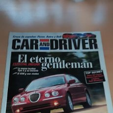 Coches: REVISTA CAR AND DRIVER Nº 40 ENERO 1999 ESPECIAL JAGUAR EL ETERNO GENTLEMAN. Lote 144929130