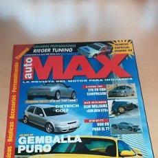 Coches: REVISTA AUTO MAX Nº 33-34 JULIO/AGOSTO 1999 NUMERO ESPECIAL VERANO 1999. Lote 144929686