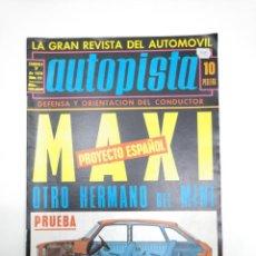 Coches: AUTOPISTA LA GRAN REVISTA DEL AUTOMOVIL. FASCICULO 7 DE 1970. NUM. Nº 575. TDKR12. Lote 145062130