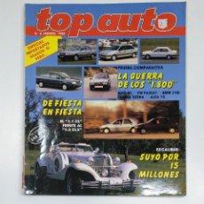 Coches: TOP AUTO Nº 4. FEBRERO 1990. EXCALIBUR. AUDI 80. PASSAT. LANCIA DEDRA. TDKR42. Lote 145164198