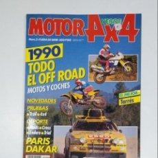 Coches: MOTOR 4 X 4. FUERA DE SERIE. VERDE. 1990. TODO EL OFF ROAD. PARIS DAKAR. TDKR42. Lote 145164254
