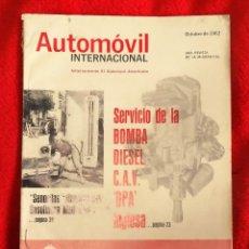 Coches: AUTOMOVIL INTERNACIONAL OCTUBRE 1962 BOMBA DIESEL C.A.V. DPA INGLESA. Lote 146109578