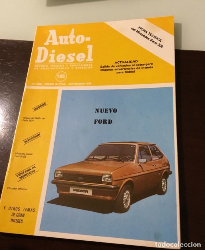 ANTIGUA REVISTA FOR FIESTA Y MERCEDES BENZ 200 (Coches y Motocicletas Antiguas y Clásicas - Revistas de Coches)