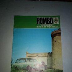 Coches: ROMBO, REVISTA DE FASA-RENAULT. Nº 10 AGOSTO 1972 DIFICIL DE CONSEGUIR. Lote 148220804