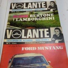 Coches: REVISTA VOLANTE NÚMEROS 1 Y 2 - FORD MUSTANG, BERTONE, LAMBORGHINI - EDITORIAL LINOSA 1969. Lote 147089373