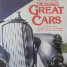 Coches: MAGNIFICO LIBRO THE WORLD`S GREAT CARS, LOS GRANDES MEJORES COCHES DEL MUNDO EDITOR JEREMY COULTER. Lote 147177758