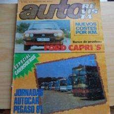 Coches: REVISTA AUTOREVISTA AUTO REVISTA DICIEMBRE 1980 FORD CAPRI. Lote 147372750