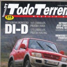 Coches: REVISTA TODO TERRENO Nº 10 AÑO 2001. PRU: MITSUBISHI MONTERO DI-D.COMP: MITSUBISHI MONTERO SPORT 2.5. Lote 147737582