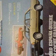 Coches: REVISTA MOTOR AUTO NUM. 45 FORD GRANADA - . Lote 147743686