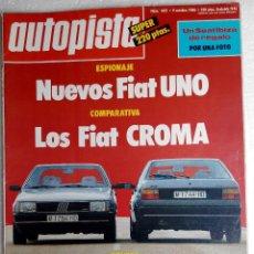 Coches: REVISTA AUTOPISTA Nº 1421 - AÑO 1986 - FOTO SUMARIO - FORD ORION 1.6 AUTOMATICO - CROMA I.E . Lote 147821282