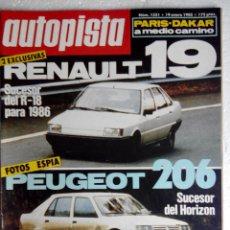 Coches: REVISTA AUTOPISTA Nº 1331 - AÑO 1985 - FOTO SUMARIO -SUBARU JUSTY 1000 4WD - ALFA 33 QUADRIFOGLIO V. Lote 147826886