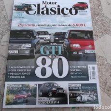 Coches: MOTOR CLASICO Nº 360, DOSSIER LOS GTI DE LOS 80,LAND ROVER,ALFA SPIDER & MGB GT,TOYOTA RAV-4. Lote 195183851