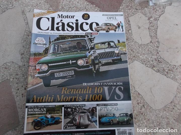 motor clasico nº 337, dossier authi morris & renault 10, ptv 250, morgan  threewhheeler, opel manta