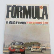 Coches: REVISTA FORMULA NUMERO 25, NOVIEMBRE 1968 68, MAZDA 1500 SS, AUTHI, LE MANS, JARAMA.. Lote 149210462