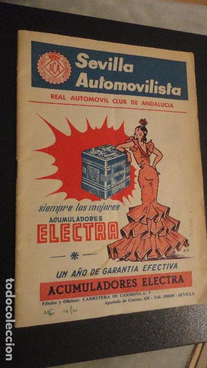 REVISTA SEVILLA AUTOMOVILISTA.REAL CLUB DE ANDALUCIA.Nº 317 1966 (Coches y Motocicletas Antiguas y Clásicas - Revistas de Coches)