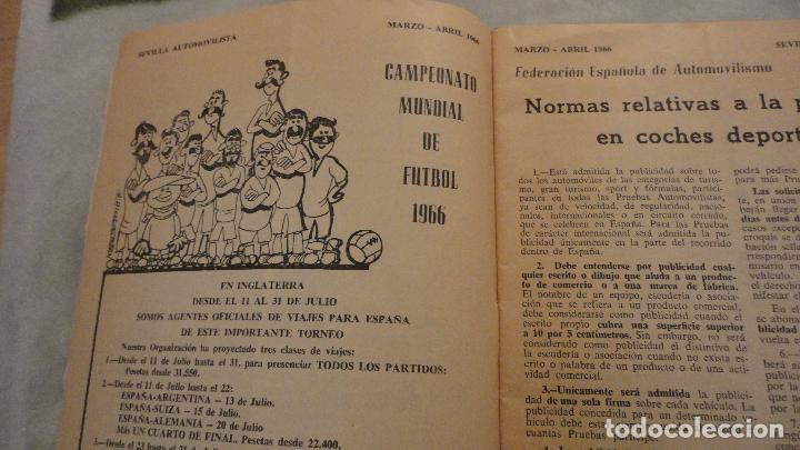 Coches: REVISTA SEVILLA AUTOMOVILISTA.REAL CLUB DE ANDALUCIA.Nº 317 1966 - Foto 3 - 149640722