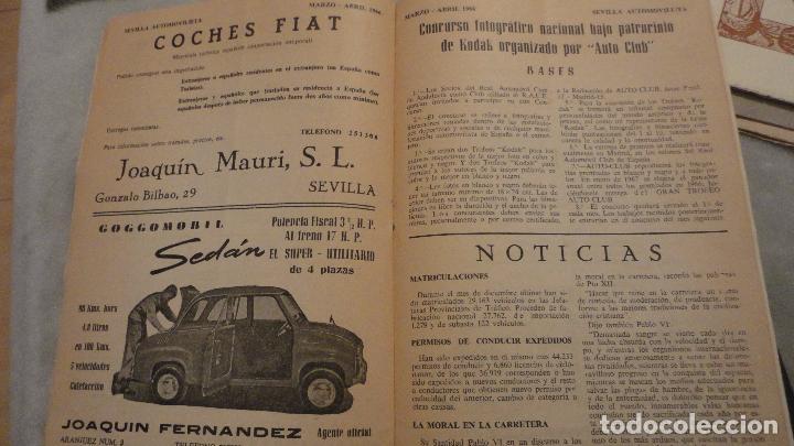 Coches: REVISTA SEVILLA AUTOMOVILISTA.REAL CLUB DE ANDALUCIA.Nº 317 1966 - Foto 5 - 149640722