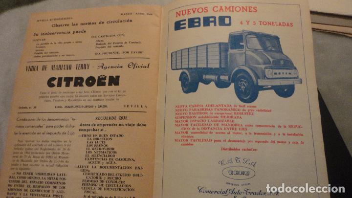 Coches: REVISTA SEVILLA AUTOMOVILISTA.REAL CLUB DE ANDALUCIA.Nº 317 1966 - Foto 6 - 149640722